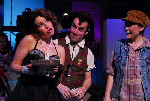 Pictured (l to r): Hollis Scarborough* as Celia, Trey Compton* as Touchtone and Alison Luff as Rosalind in <cite>Like You Like It</cite>.   Photo by Jennifer Maufrais Kelly.