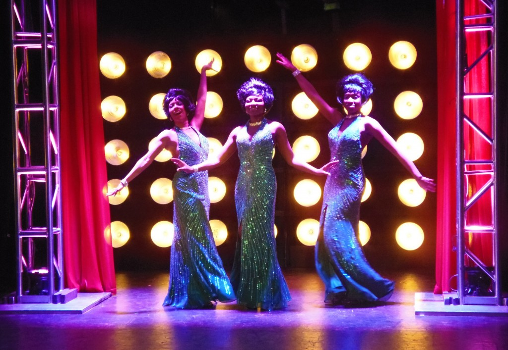 Inuka Ivaska*, Charnette Batey, Aisha Curtiss in DREAMGIRLS photo by Joey Haws