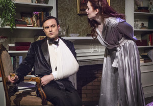 Matt W. Cody as Charles and Amber Nicole Guest as Elvira in Blithe Spirit
