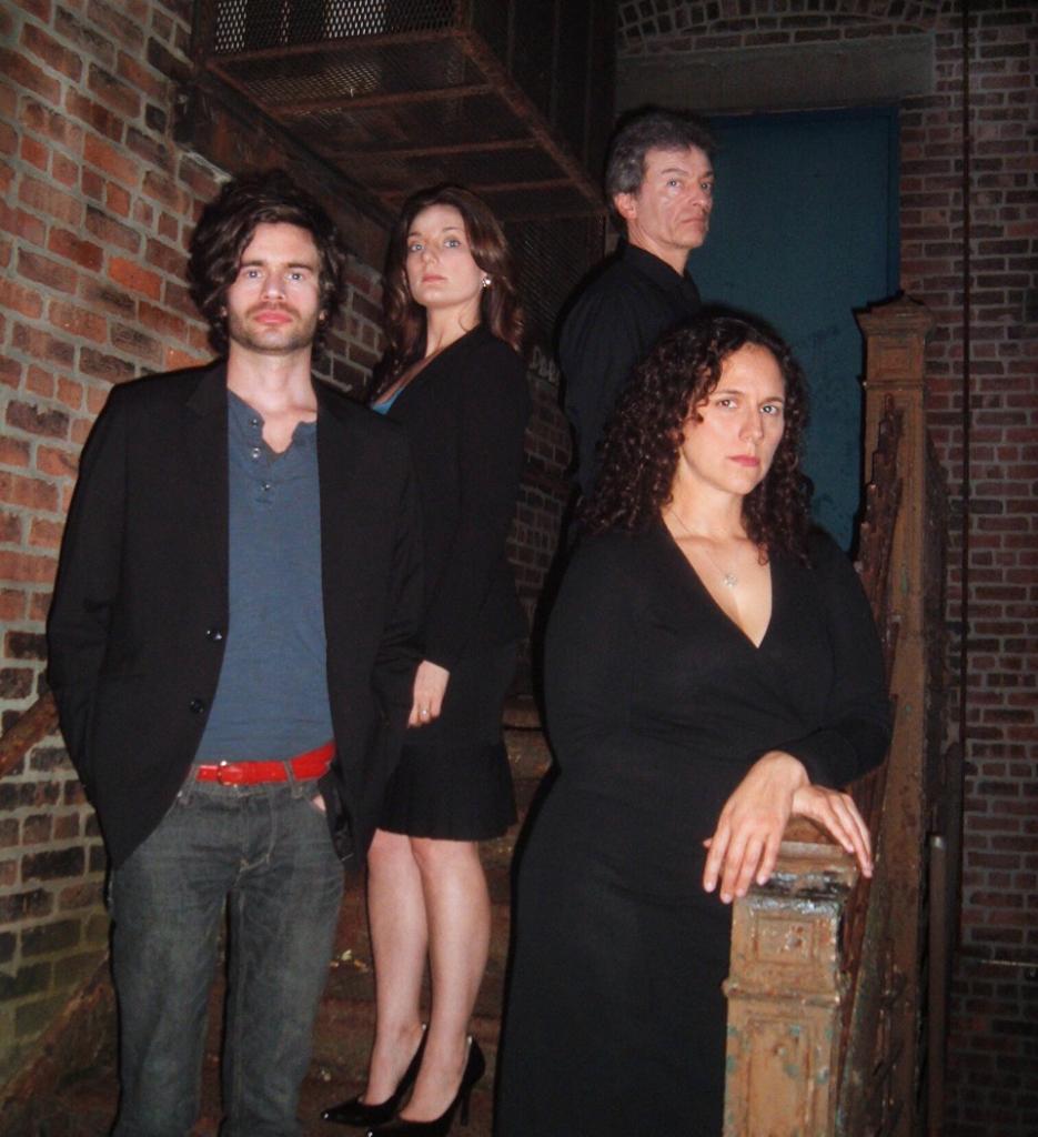 David Gazzo, Bonnie Wickeraad*, John Blaylock* and Justine Campbell-Elliott in Gallery Players' PROOF. (photo by Sara Slagle)