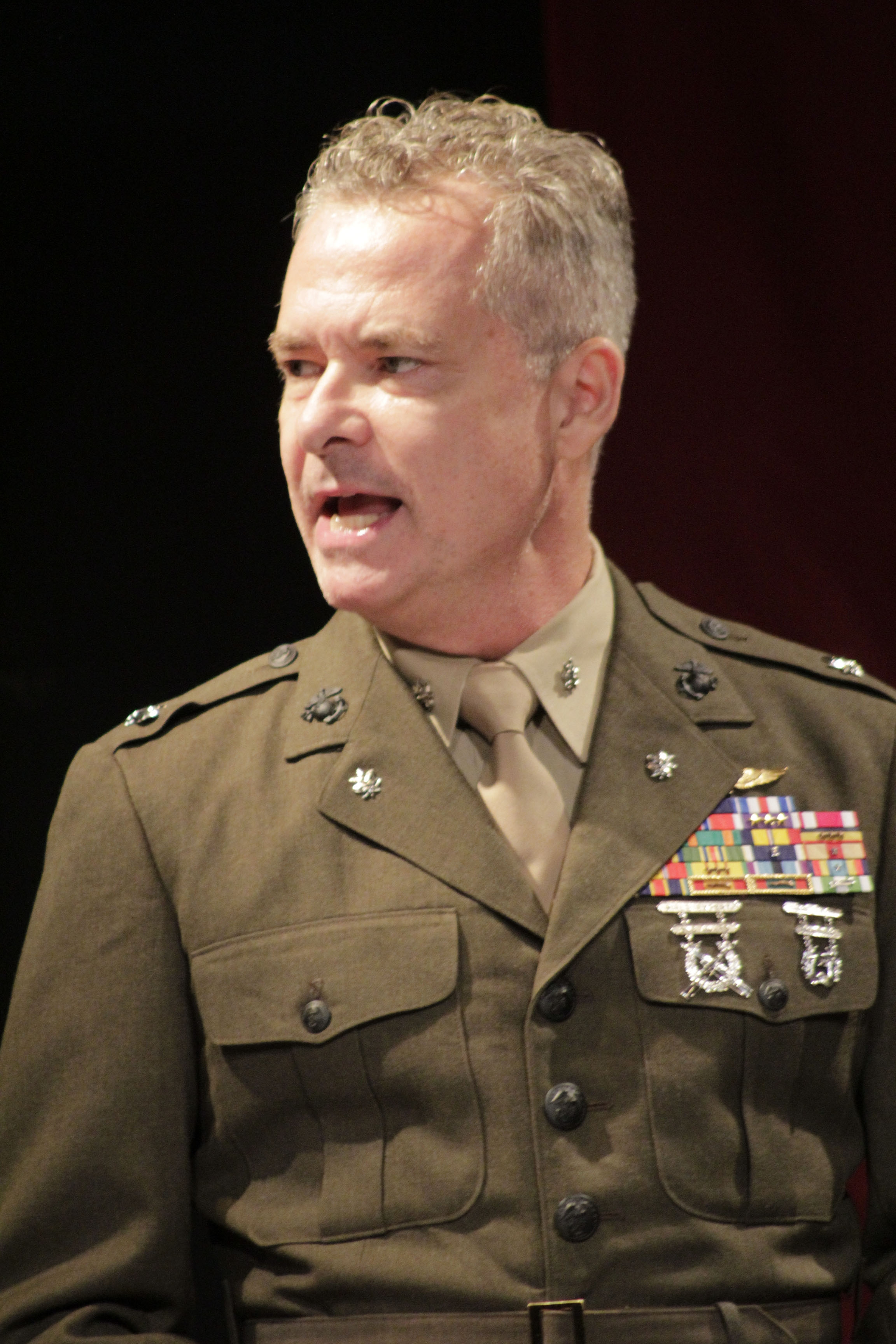 Frank Lewallen as Col. Jessup in Gallery Players' A Few Good Men (photo by Tanya Parks)